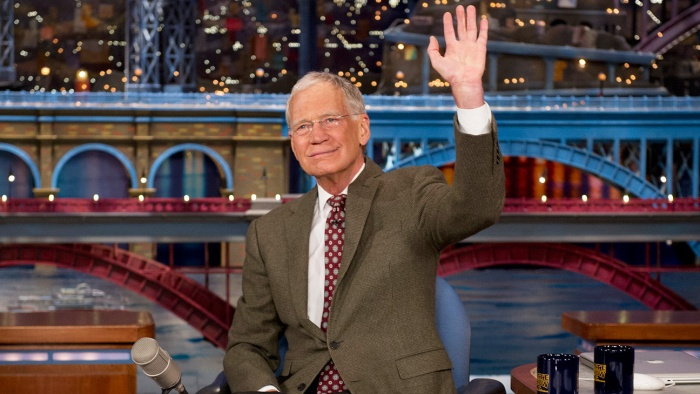 David Letterman announces that he will be retiring from the LATE SHOW with DAVID LETTERMAN on the broadcast tonight, Thursday, April 3 (11:35pm-12:37am, ET/PT) on the CBS Television Network. Photo: Jeffrey R. Staab/CBS ©2014 CBS Broadcasting Inc. All Rights Reserved